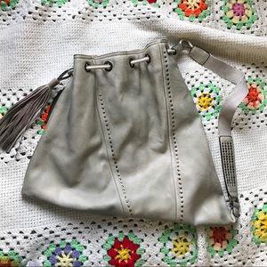 Moda Luxe Sage Boho Triangle Pull Tie Pleather Bag